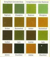 Patina Color Chart Arjf Concrete Products Services