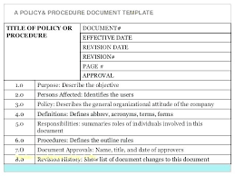 Awesome Best Standard Operating Procedure Sop Templates Simple For