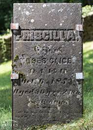 Priscilla Montgomery Gaige (1822-1852) - Find A Grave Memorial