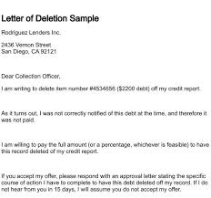 letter of deletion regarding letter to credit bureau to remove paid debt 600x562