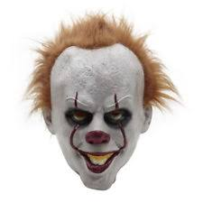 pennywise the dancing clown bob gray mask it horror helmet latex  stephen king s it mask pennywise clown mask scary joker costume halloween new
