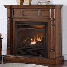 duluth forge full size dual fuel ventless fireplace 32 000 btu remote control walnut