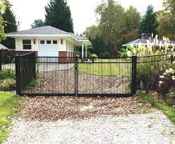 3 Rail Smooth Top Tight Picket Metal Drive Gate Fence Workshop