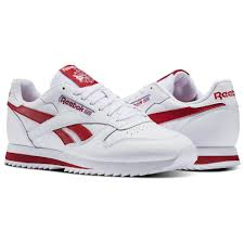 reebok classic leather ripple low bp classics shoes mens red white size us 7 5 13 5 969qecxi