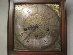 vintage linden wall clock germany roman
