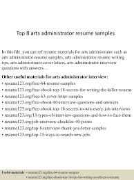 Art Administrator Resume Top224artsadministratorresumesamples224lva224app622492thumbnail24jpgcb=224243224246767224 10