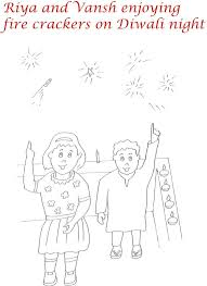 Fire crackers printable coloring page for kids 2