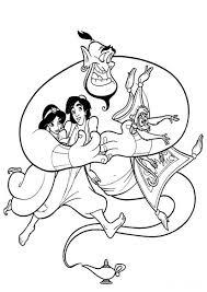 Aladdin Disney Genie Coloriage