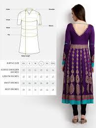Women Purple Gold Printed Anarkali Kurta Size By