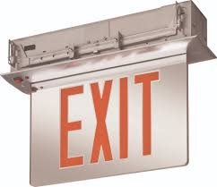 Lithonia Lighting Exit Signs Lithonia Lighting Acuity Edgr 1 Rmr M4 Exit Signs Crescent Electric Supply Company