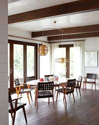 elegant the leather woven chair dining room
