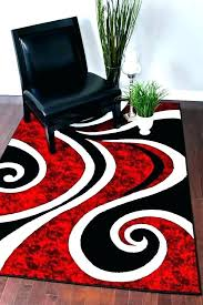 red and black area rug rugs white outdoor grey