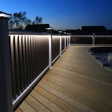 deck lighting. Deck Lighting System Finyl Line™ For Railing
