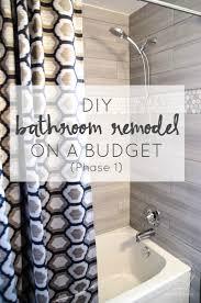 Remodelaholic Diy Bathroom Remodel On A Budget And Thoughts On Bathroom Shower Remodel Diy