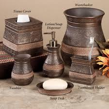 Copper Bathroom Accessories Sets Brown Bathroom Accessories Sets Bathroom