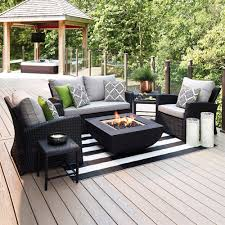 outdoor furniture allen roth piedmont 4 piece patio conversation set at lowe s canada