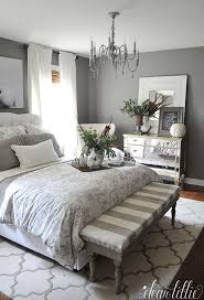 Bedroom Master Bedroom Mirrored Furniture Grey Bedding Ideas With