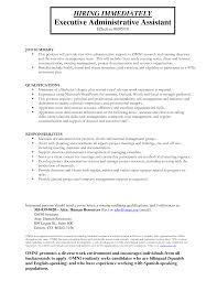 Administrative Assistant Duties Resume Businessresume Executive