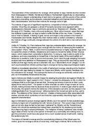 example of extended essay and shakespeare study coursework page 1