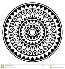 Mandala Indian Designs Mandala Indian Inspired Round Geometric Pattern Stock