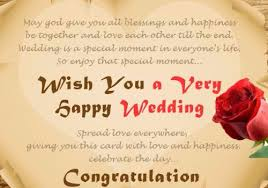 Wedding Blessing Quotes Beauteous 48 Happy Wedding Wishes For On A Card Yuimino