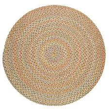 revere earth beige 4 ft x 4 ft round indoor outdoor braided area
