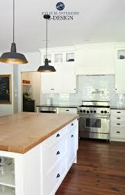 Farmhouse Country Style Kitchen Cloud White Cabinets Black Granite