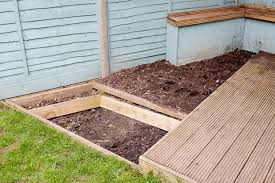 how to build a garden. Dig A Hole To 45cm Deep. Knock In 60cm-long Pegs Around The Edges And Screw 2cm-thick Retaining Boards Them. Frame With Timber, Screwed How Build Garden