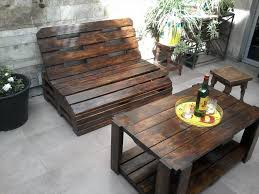 rustic wood patio furniture. Choose Rustic Design For DIY Pallet Patio Furniture With Wooden Bench And Oak Table On Stone Wood