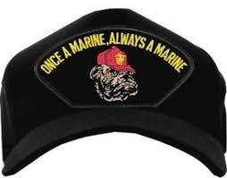 Once A Marine Always A Marine Usmc Id Ballcap Bulldog Once A Marine Always A Marine Black
