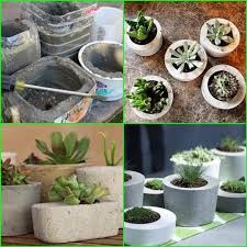 how to make concrete planters creative diy project 1