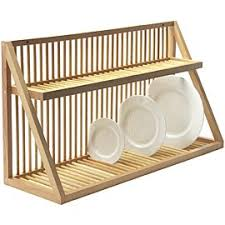 Small Picture Nice dish rack for over sink Wall Mounted Wooden Plate Rack