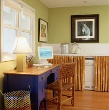 eclectic home office. Best Washer With Agitator Eclectic Home Office And Bold Colors Desk Accessories Double Hung Window Dryer Green Walls Hidden Laundry Room T