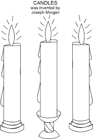 Small Picture Candles coloring printable