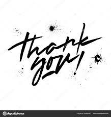 ベクトルの黒いレタリング ありがとうございました 手書きの文字やしみ