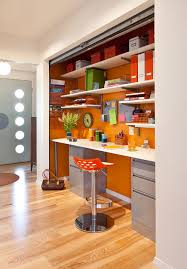 Orange home office Teal Small Orange Home Office Home Stratosphere Colors That Go Well With Orange For Interior Design In 2019