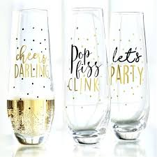 stemless champagne flutes bulk play party stemless champagne glasses party stemless champagne glasses personalized stemless
