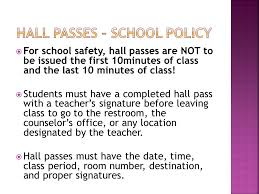 Hall Passes For School