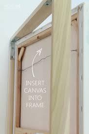 floating frame insert canvas