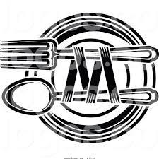 Restaurant Menu Clipart Black And White Menu And Resume Inside