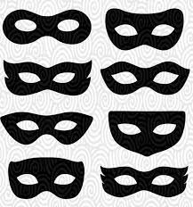 Blank Eye Masks To Decorate Cricut Template Superhero Eye Masks Masquerade silhouette no fill 33