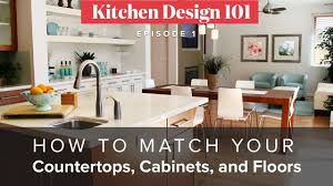 How To Match Your Countertops Cabinets And Floors Kitchen Design