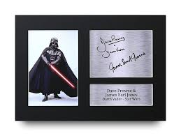 HWC Trading Dave Prowse & James Earl Jones Signed A4 Printed Autograph Star  Wars Darth Vader Print Photo Picture Display- Buy Online in India at  Desertcart