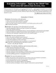 Craap Test The Craap Test Hms Harrison Middle School Library