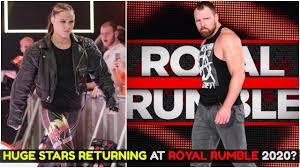 DEAN AMBROSE & RONDA ROUSEY RETURNING AT ROYAL RUMBLE 2020 ? WWE ROYAL  RUMBLE 2020 RUMORS & SPOILERS