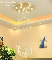 modern stair foyer chandelier lighting crystal chandelier free installation in india shape round
