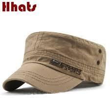 Flat Male <b>Hat</b> Adjustable Cotton Men <b>Military Hat</b> Spring Autumn ...