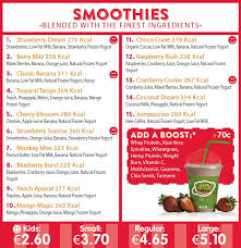 Booster Juice Nutrition Chart Smoothies Smoothies Cork Smoothies Ireland Jump