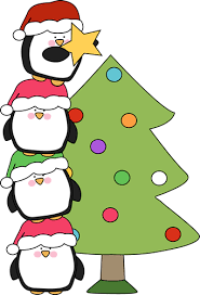 cute penguin christmas clipart. Beautiful Clipart Penguins Putting A Star On Christmas Tree Clip Art  Inside Cute Penguin Clipart S