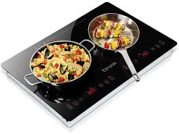 upgrade your kitchen with the new etronik double burner induction cooktop designed for universal use